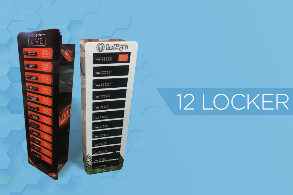 12 locker mobile phone charging station